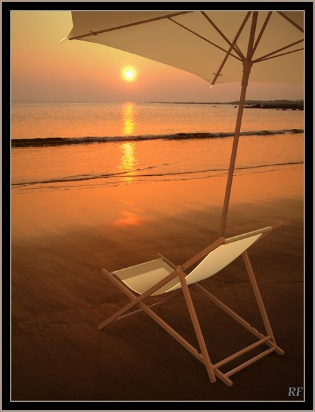 Deck chair and umbrella