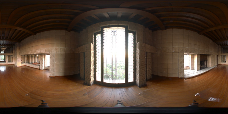 Dining room of the Ennis-Brown House, Los Angeles, California - HDR