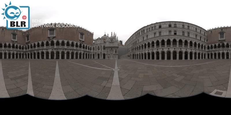 Courtyard of the Doge's palace, Venice, Italy - HDR